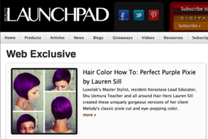 Purple Pixie Passion: Lauren Sill's Beauty Launchpad Web Exclusive